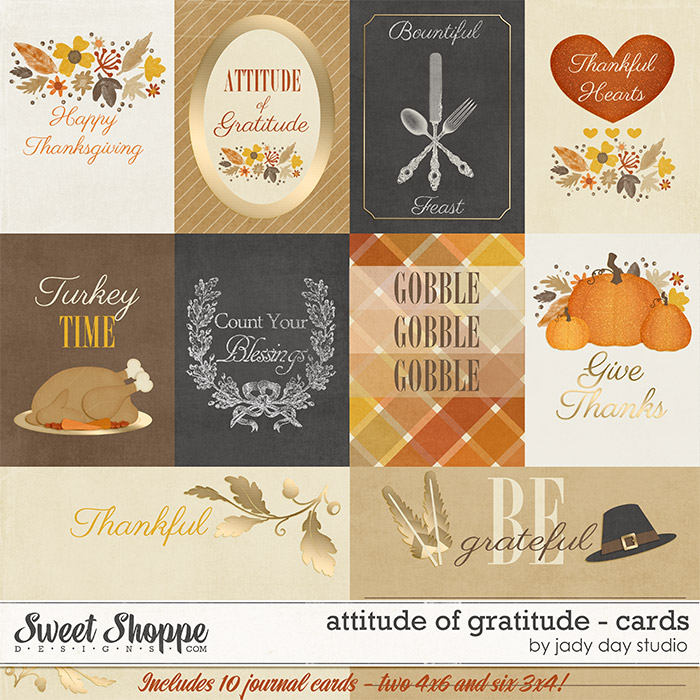 Attitude of Gratitude - Cards by Jady Day Studio