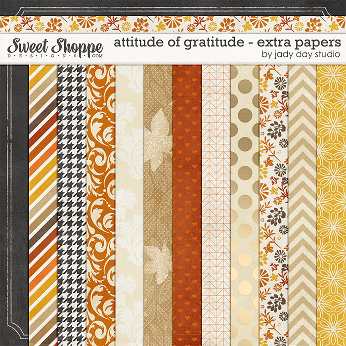 Attitude of Gratitude - Extra Papers by Jady Day Studio