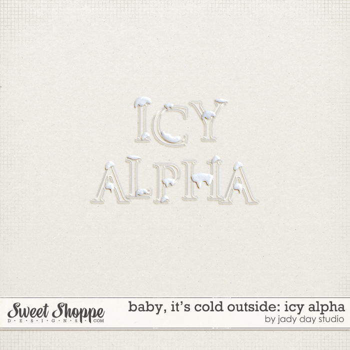 Baby, It's Cold Outside: Icy Alpha by Jady Day Studio