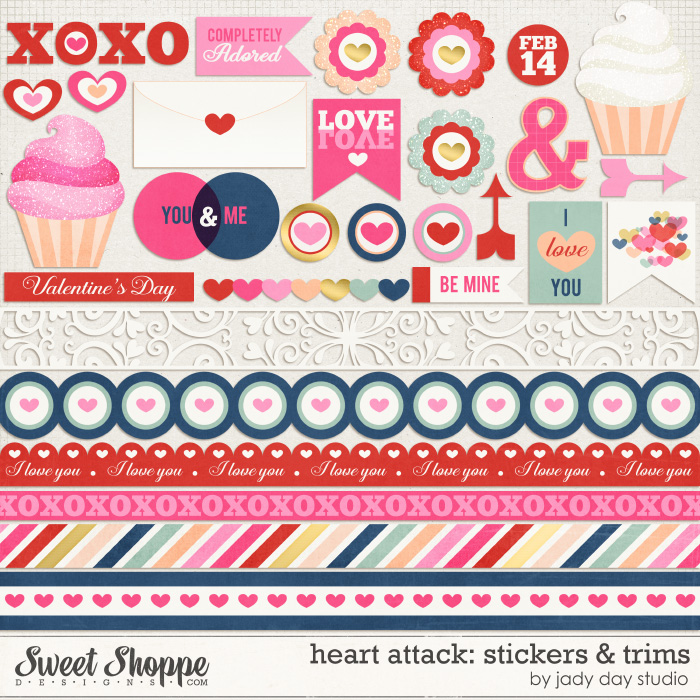 Heart Attack: Stickers & Trims by Jady Day Studio