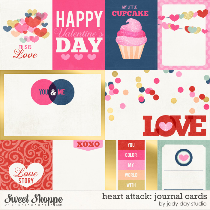 Heart Attack: Journal Cards by Jady Day Studio
