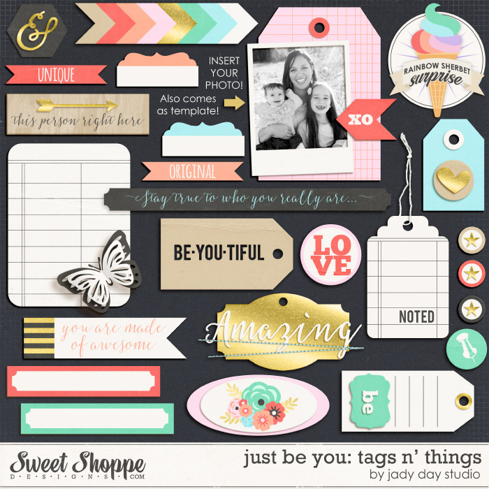 Just Be You: Tags n' Things by Jady Day Studio