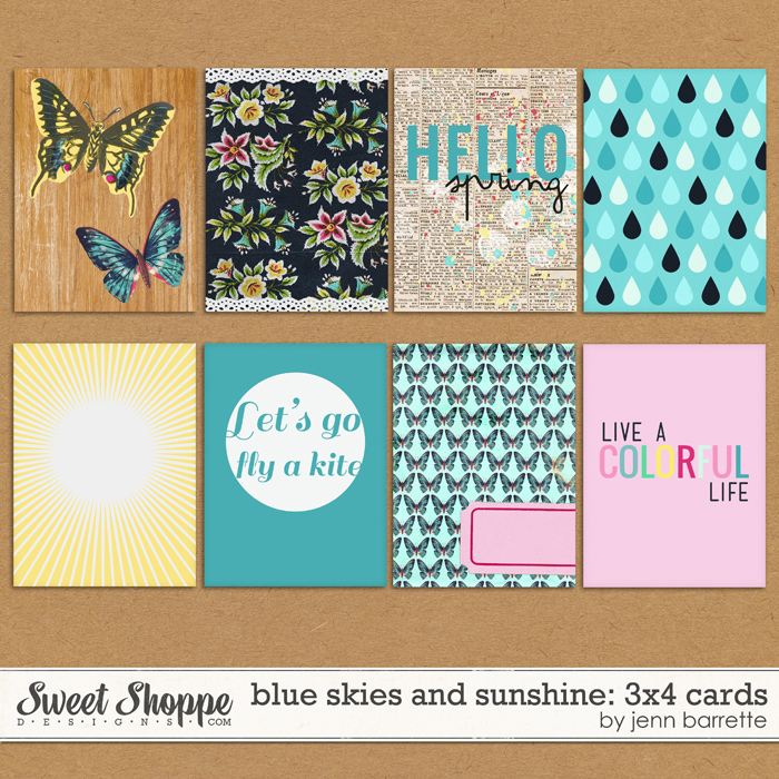 Blue Skies and Sunshine Cards by Jenn Barrette