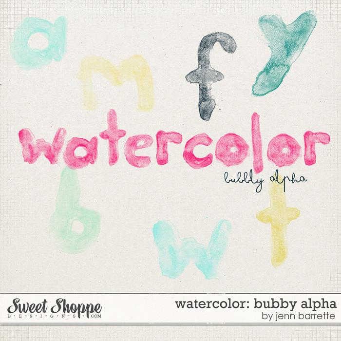 Watercolor: Bubbly Alpha
