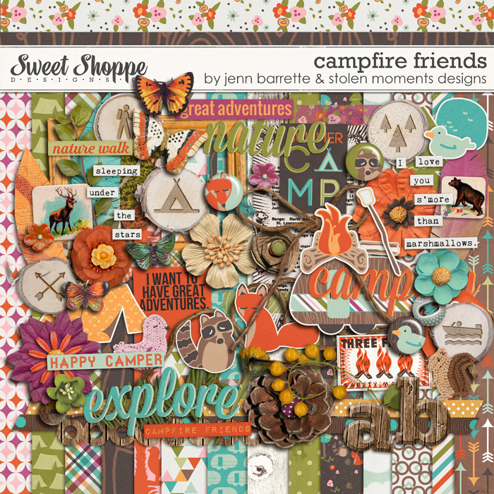 Campfire Friends by Jenn Barrette and Stolen Moments Designs