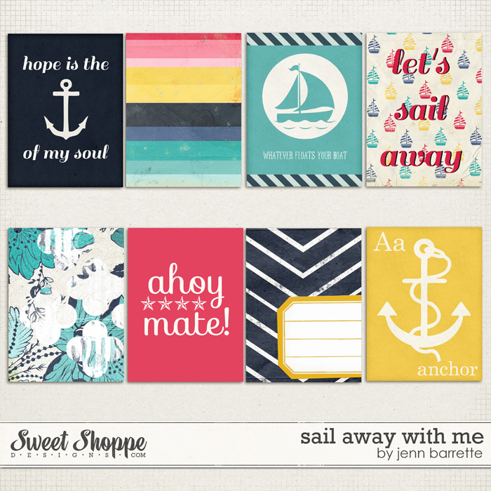 Sail Away With Me Cards by Jenn Barrette