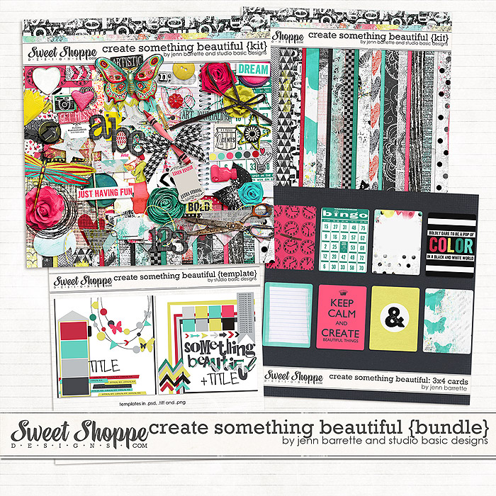 Create Something Beautiful Bundle by Jenn Barrette and Studio Basic