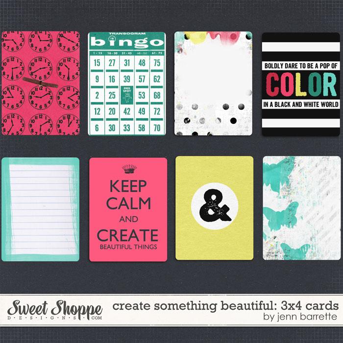 Create Something Beautiful Cards by Jenn Barrette