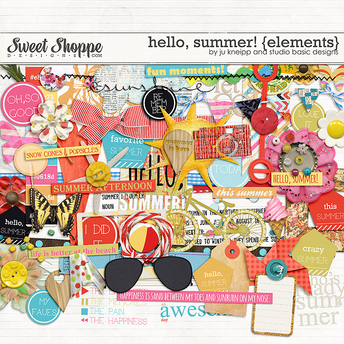 Hello, Summer! {elements } by Juliana Kneipp and Studio Basic