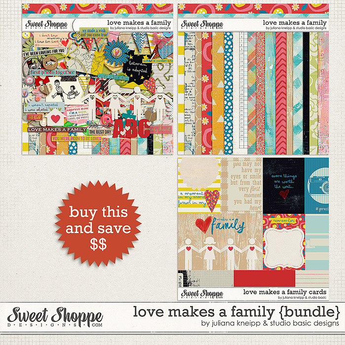 Love Makes a Family Bundle by Juliana Kneipp and Studio Basic