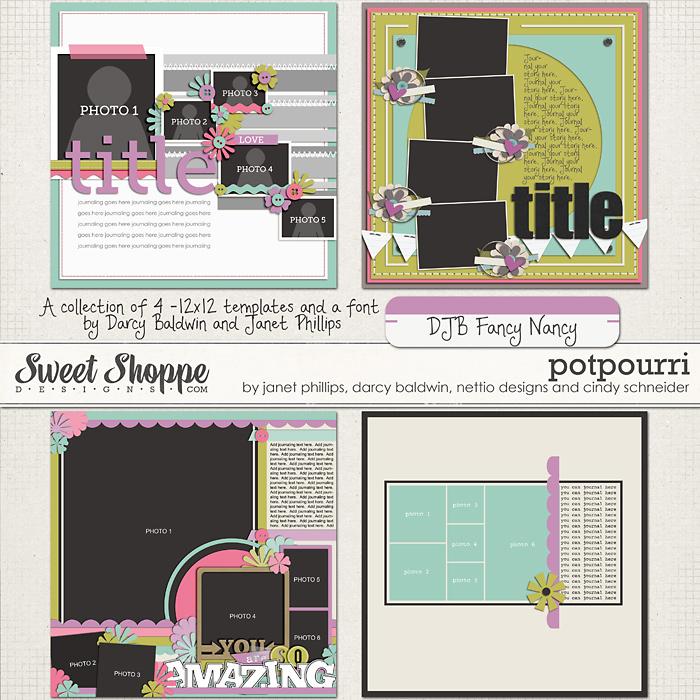 *LIMITED EDITION* Potpourri by Cindy Schneider, Darcy Baldwin, Janet Phillips & Nettio Designs