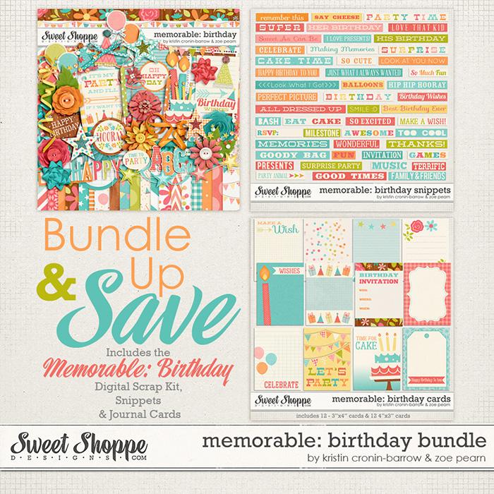 Memorable: Birthday Bundle by Kristin Cronin-Barrow & Zoe Pearn