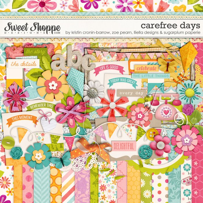 *LIMITED EDITION* Carefree Days by Kristin Cronin-Barrow, Zoe Pearn, Lliella Designs and Sugarplum Paperie