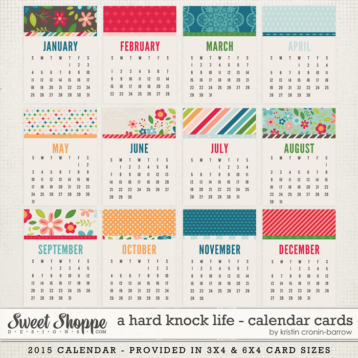 A Hard Knock Life: Calendar Cards by Kristin Cronin-Barrow
