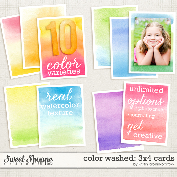 Color Washed: 3x4 cards by Kristin Cronin-Barrow