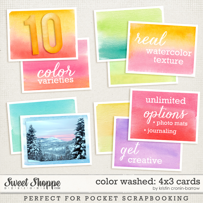 Color Washed: 4x3 cards by Kristin Cronin-Barrow