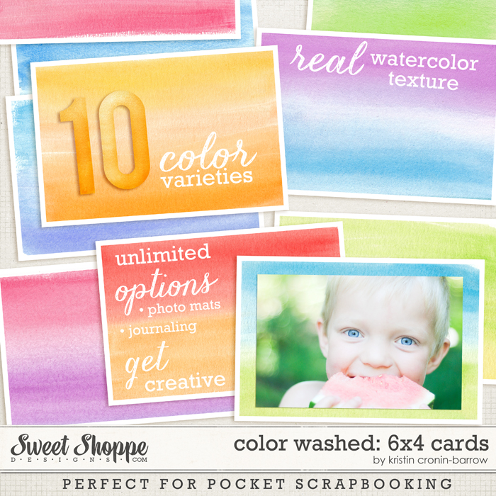 Color Washed: 6x4 cards by Kristin Cronin-Barrow
