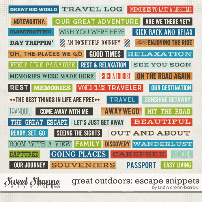 Great Outdoors: Escape Snippets by Kristin Cronin-Barrow