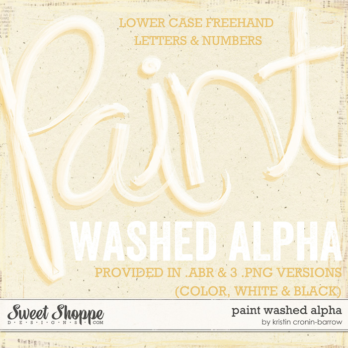 Paint Washed Alpha by Kristin Cronin-Barrow