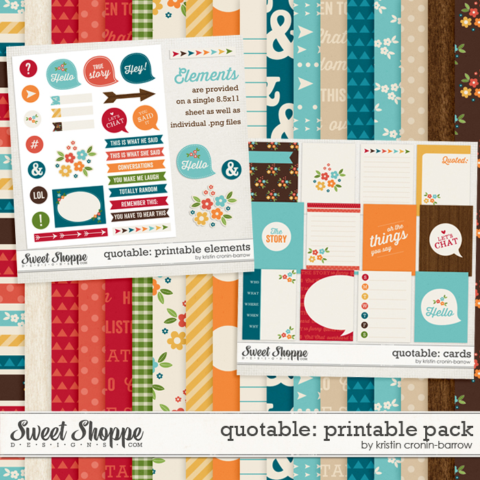 Quotable: Printable Pack by Kristin Cronin-Barrow