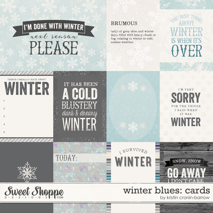 Winter Blues: Cards by Kristin Cronin-Barrow