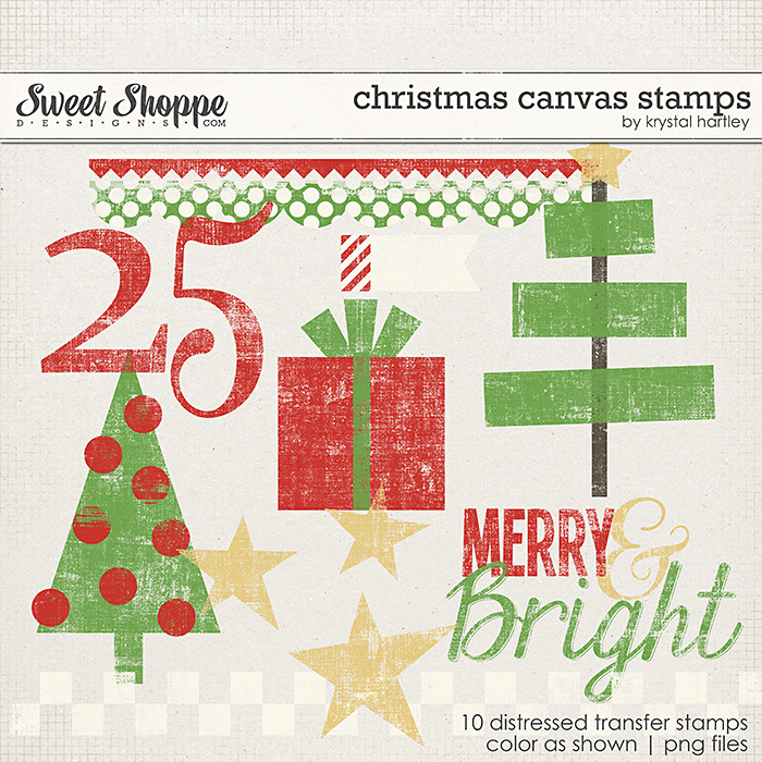 Christmas Canvas Stamps by Krystal Hartley