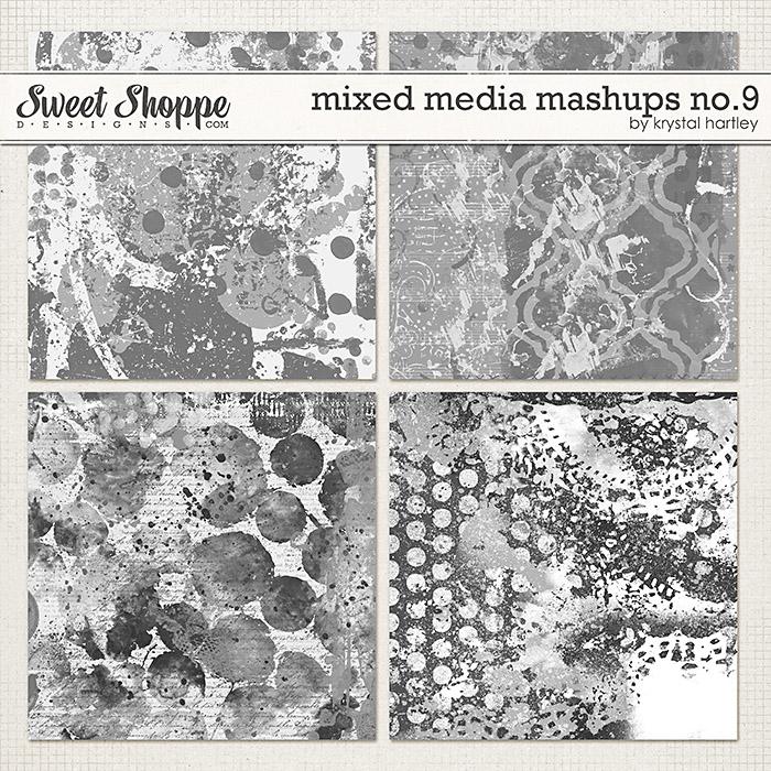 Mixed Media Mashups No. 9 by Krystal Hartley
