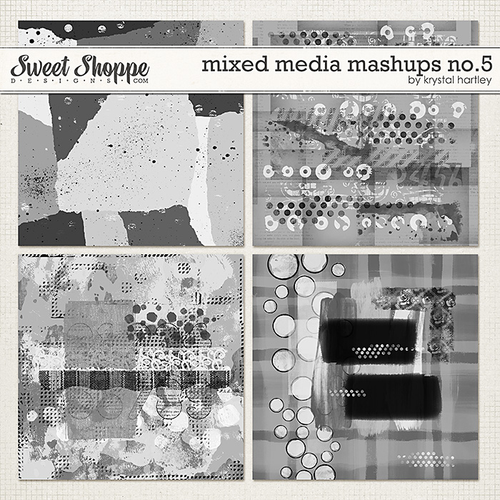 Mixed Media Mashups No. 5 by Krystal Hartley