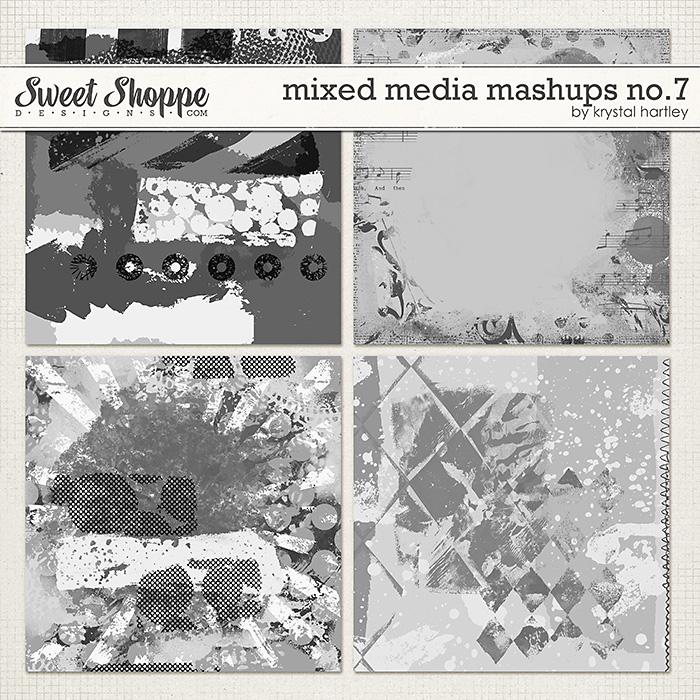 Mixed Media Mashups No. 7 by Krystal Hartley