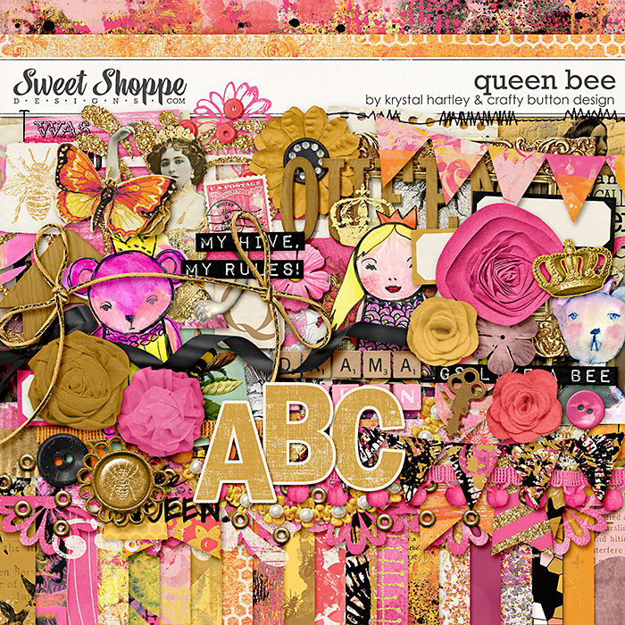 Queen Bee by Krystal Hartley and Crafty Button Design