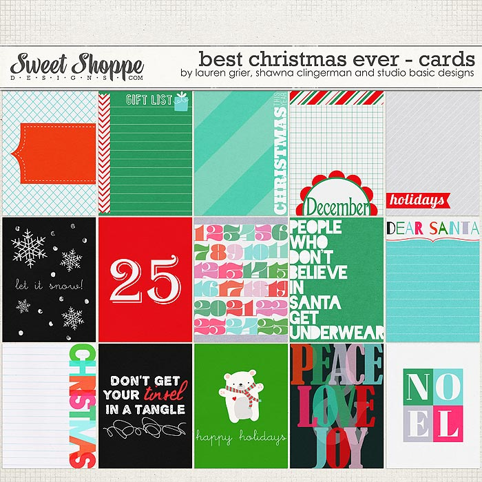 Best Christmas Ever Journal Cards by Studio Basic, Shawna Clingerman and Lauren Grier