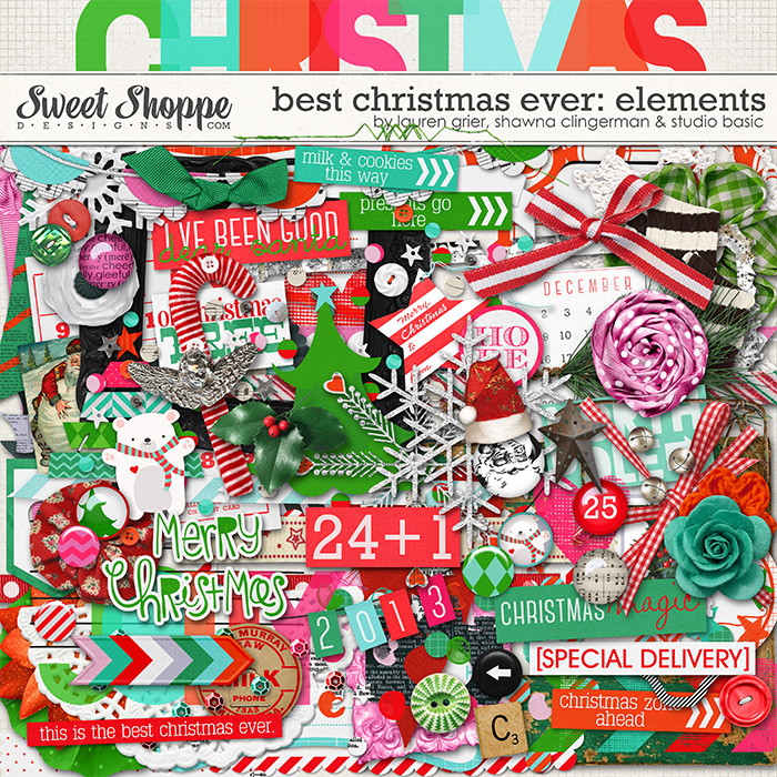 Best Christmas Ever Elements by Studio Basic, Shawna Clingerman and Lauren Grier