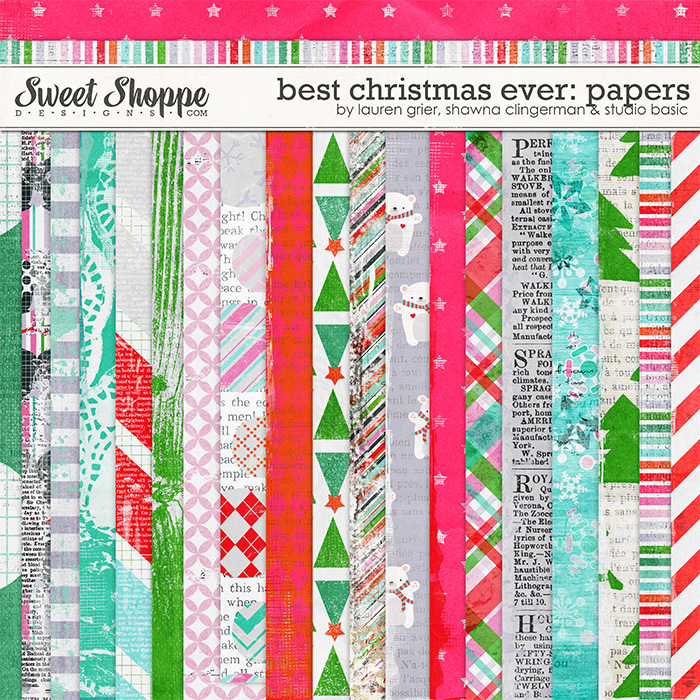 Best Christmas Ever Papers by Studio Basic, Shawna Clingerman and Lauren Grier
