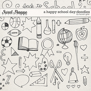 A Happy School Day: Doodles by Lauren Grier