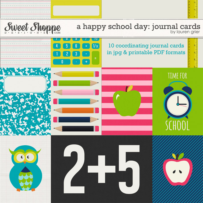 A Happy School Day: Journal Cards by Lauren Grier