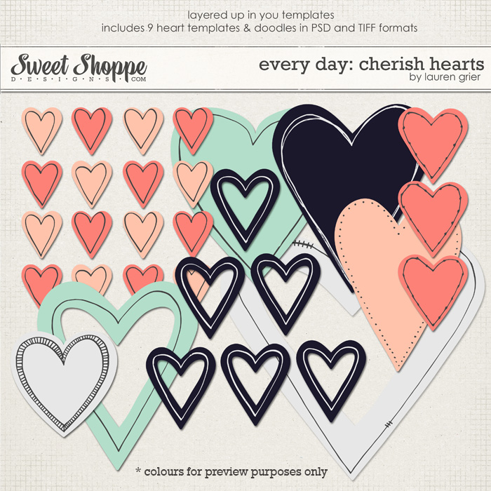 Every day: Cherish Hearts by Lauren Grier