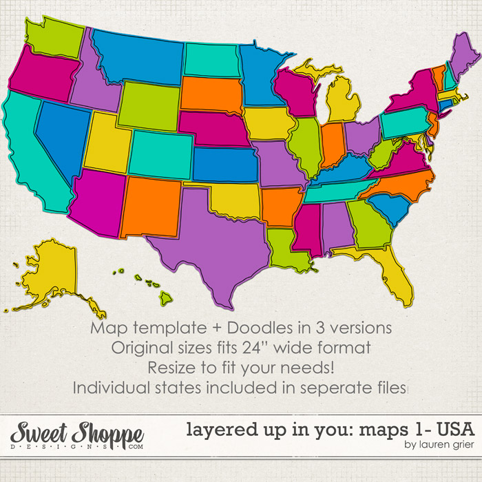 Layered up in You: Maps1- USA by Lauren Grier