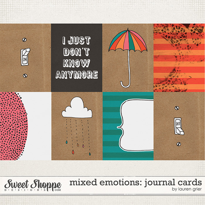 Mixed Emotions: Journal Cards by Lauren Grier