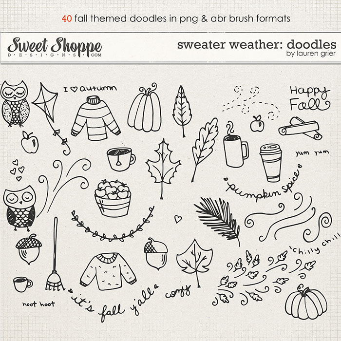 Sweater Weather: Doodles by Lauren Grier