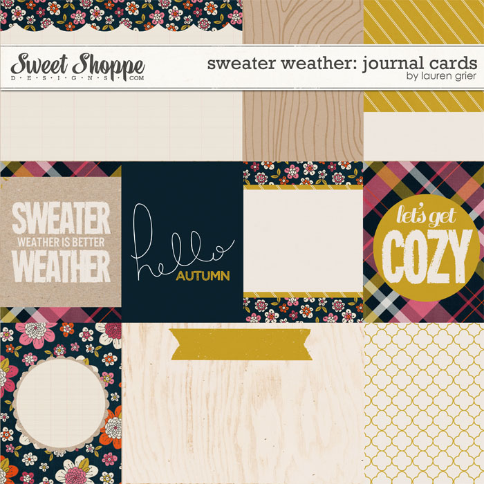Sweater Weather: Journal Cards by Lauren Grier