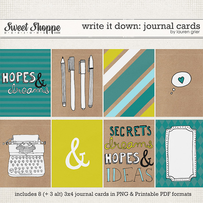 Write it Down: Journal Cards by Lauren Grier
