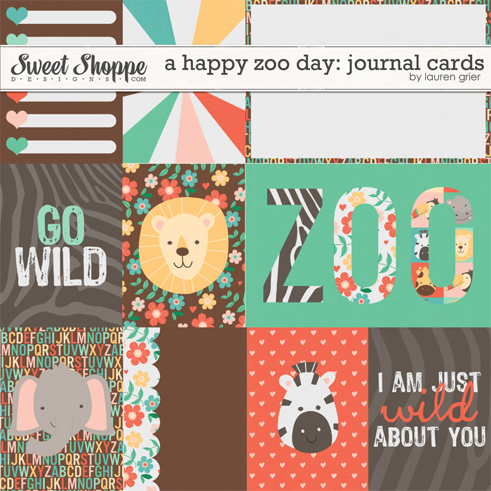 A Happy Zoo Day: Journal Cards by Lauren Grier