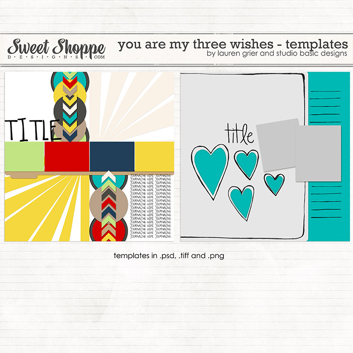 You Are My Three Wishes Templates by Lauren Grier & Studio Basic