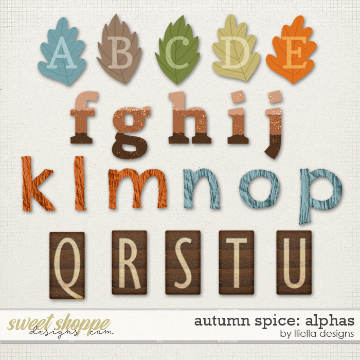 Autumn Spice Alphas by lliella designs