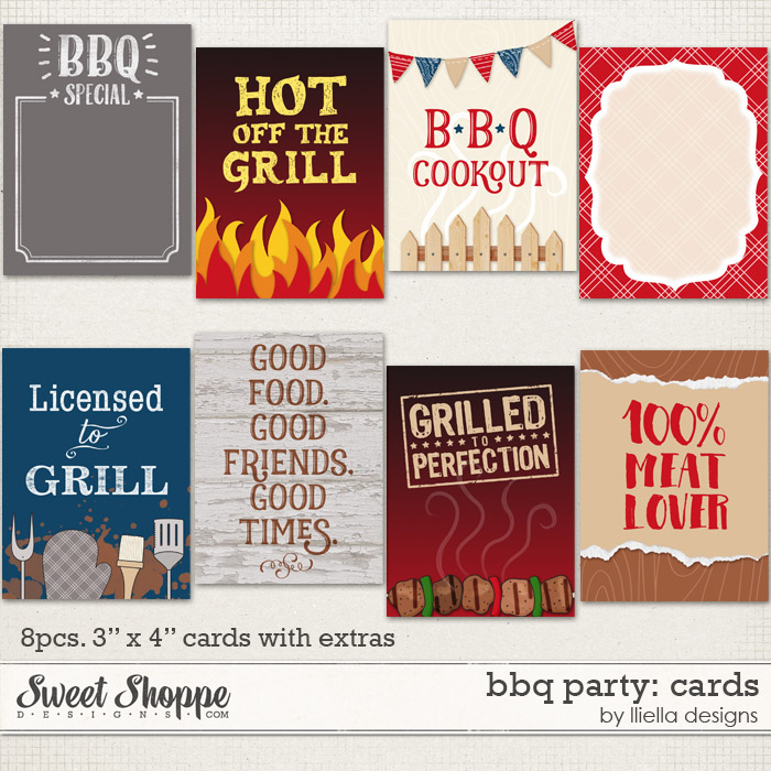 BBQ Party: Cards by lliella designs