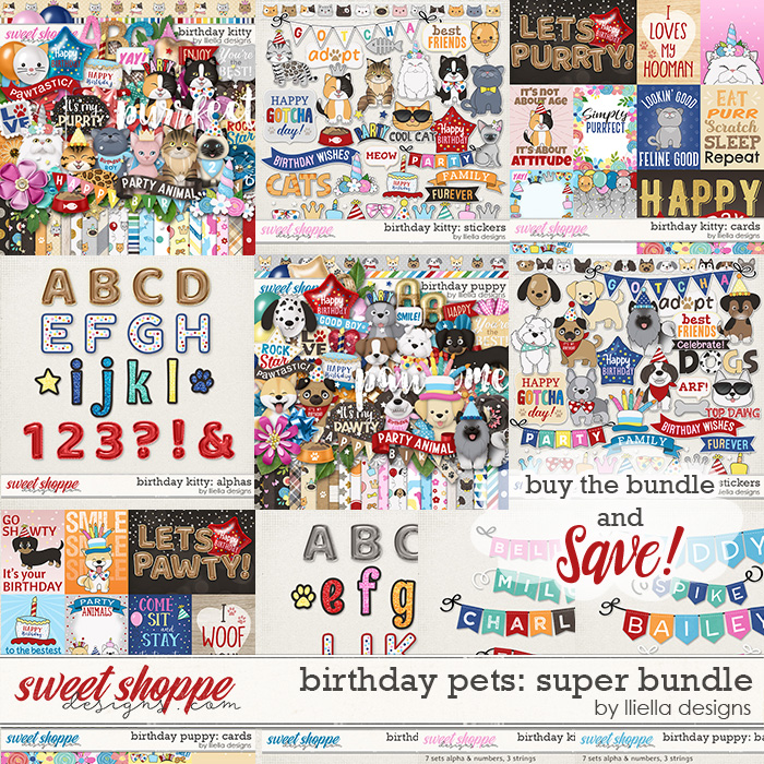 Birthday Pets Super Bundle by lliella designs