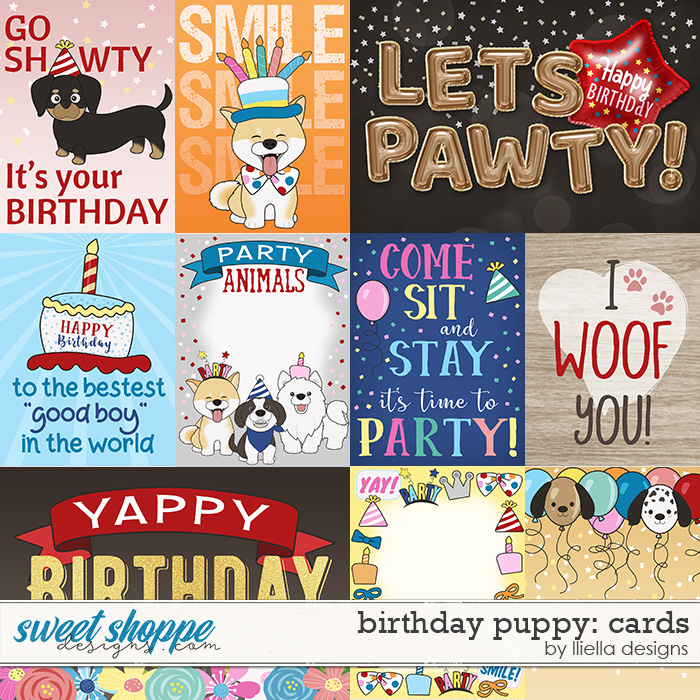 Birthday Puppy Cards by lliella designs