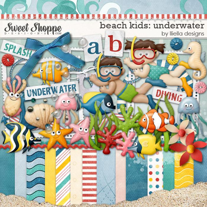 Beach Kids: Underwater by lliella designs