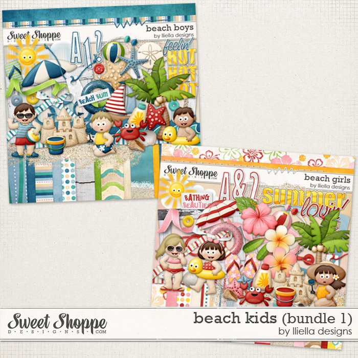 Beach Kids (Bundle 1) by lliella designs