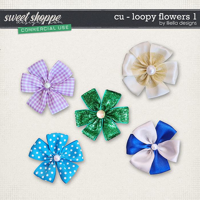 CU - Loopy Flowers 1 by lliella designs